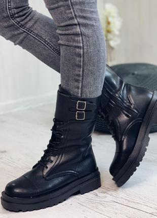Ботинки с мехом женские зимние