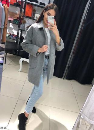 Кашемировае пальто ткань елочка+подкладка