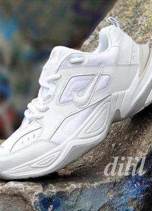 Кроссовки мужские кожаные белые nike найк