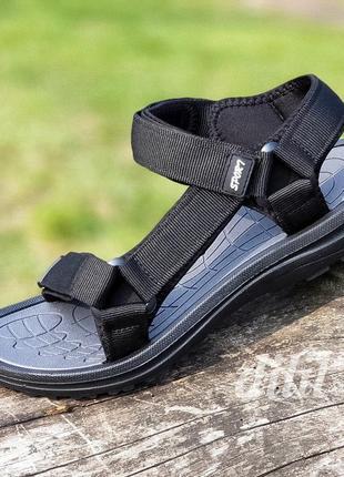 Босоножки сандалии мужские черные на липучках