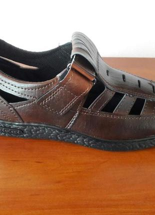 Мужские летние туфли бордовые