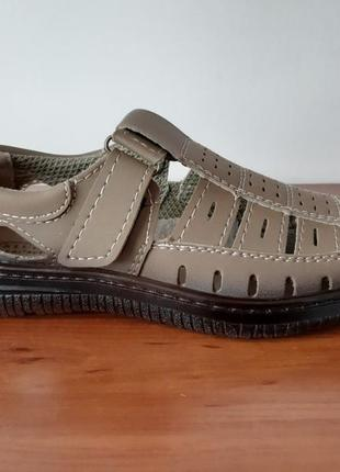 Мужские летние туфли бежевый