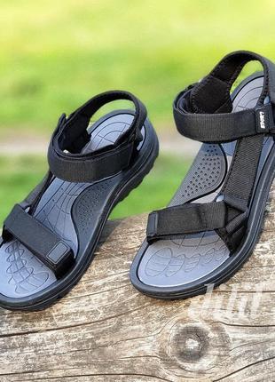 Босоножки сандалии подростковые мужские черные на липучках