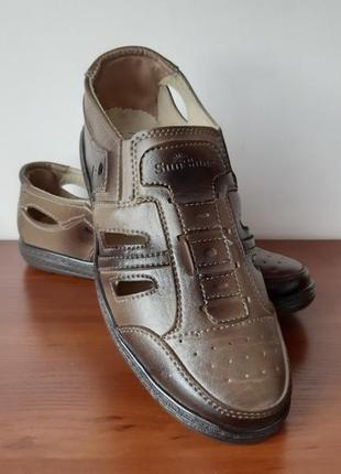 Мужские туфли летние коричневые