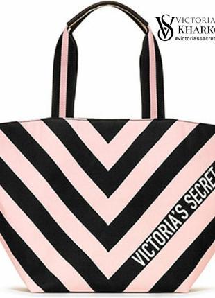 🆕 сумка в полоску ромб victoria's secret love