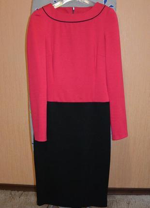 Деловое теплое платье