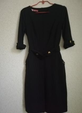 Платье черное, деловое