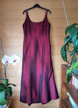 Длинное вечернее платье цвета марсала steilman Германия