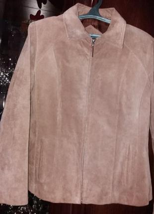 Замшевый пиджак--14-16р распродажа