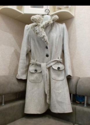 Женское зимнее пальто шерсть 14\16р на 50\52р
