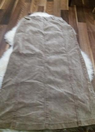 Длинная юбка миди--вельвет --бренд--chaton-l-xl распродажа