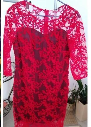 Красное платье 50-52 размера