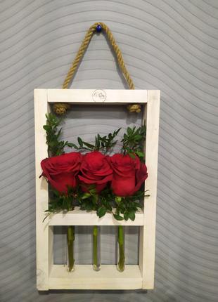 Деревянные изделия, рамочки, ёлочки, цветы, декор