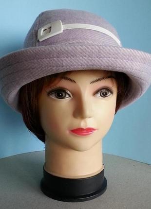 Женская шляпа ковбойская шерсть полоска