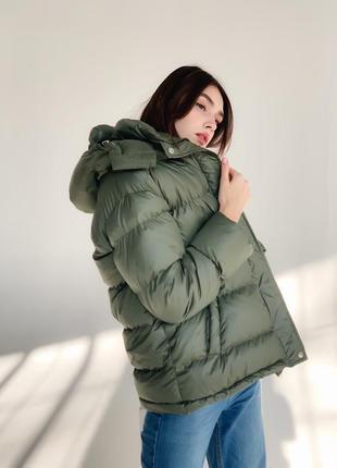 Теплая куртка пуховик хакки