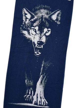 """Полотенце махровое """"волк"""""""