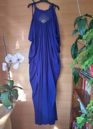 Длинное вечернее платье трикотаж
