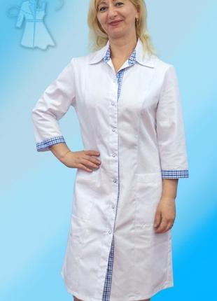 Женский медицинский халат для врачей и студентов