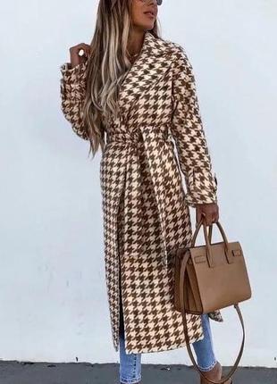 Женское шикарное пальто шерстяной кашемир