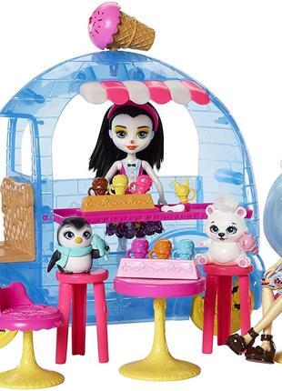 Игровой набор Enchantimals Фургончик с мороженым 2 куклы