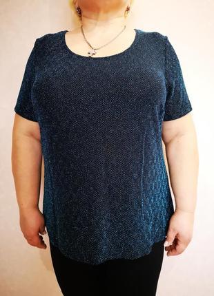 Скидки на весь товар яркая блестящая нарядная блуза батал