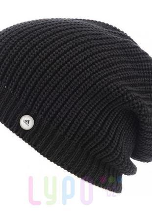 Женская трикотажная шапка adidas essential black beanie