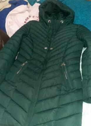 Сегодня ! пальто куртки длинная хаки деми