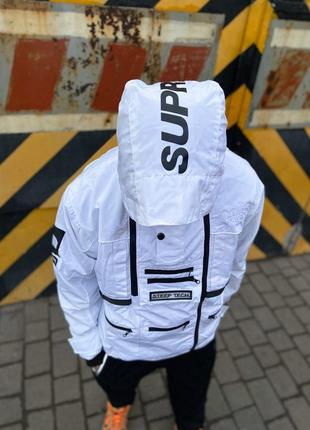 🔥куртка supreme x the north face steeptech white 🔥