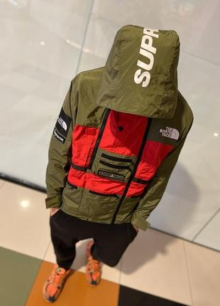 🔥куртка supreme x the north face steeptech red/haki