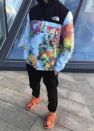 """Куртка supreme x tnf """"map jacket"""""""