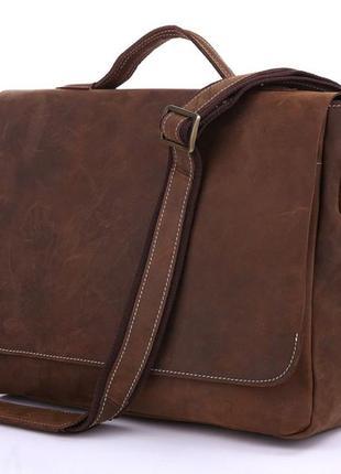 Стильная мужская винтажная casual сумка почтальонка хендм из н...