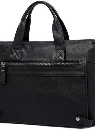 Стильная модная мужская кожаная черная casual сумка ручная работа