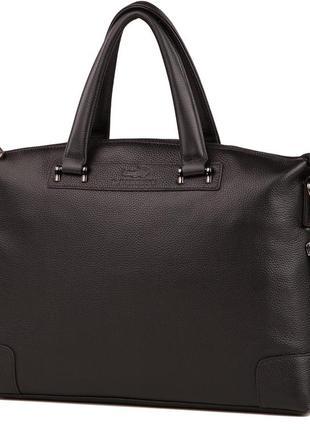Модная стильная мужская кожаная черная сумка ручная работа
