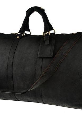 Дорожная стильная кожаная винтажная сумка в форме саквояжа руч...