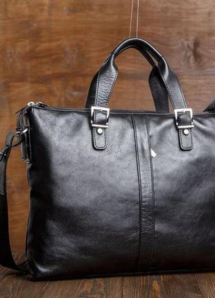 Стильная модная деловая casual премиум сумка кожаная мужская р...