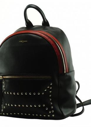 Модный стильный женский кожаный городской рюкзак с заклепками ...
