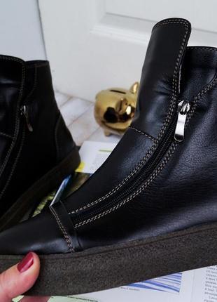 Модные стильные женские зимние ботинки на две молнии на низком...