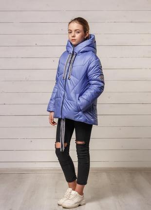 Стильная модная красивая демисезонная осенняя куртка на девочк...