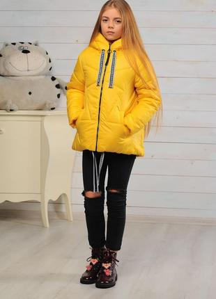Стильная яркая модная демисезонная осенняя детская куртка на д...