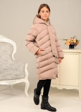 Длинная зимняя красивая качественная теплая куртка пуховик на ...