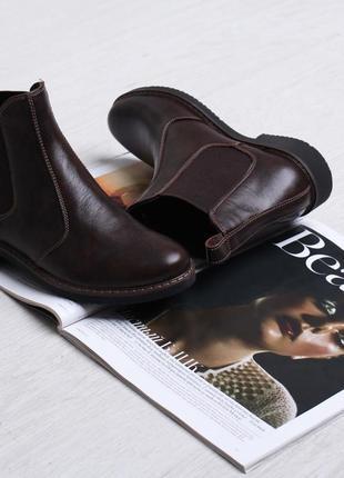 Женские стильные демисезонные ботинки челси натуральная кожа к...