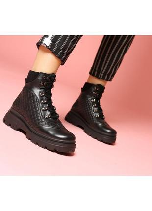 Кэжуал casual качественные ботинки женские зимние на тракторно...