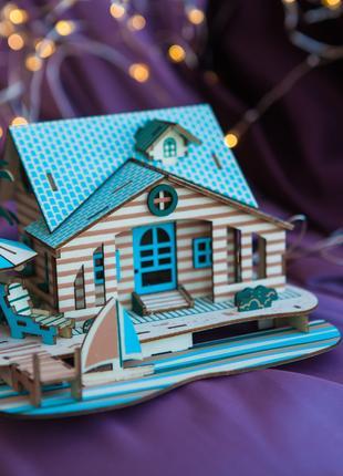Стильный подарок-сувенир, деревянный 3D пазл для взрослых и детей