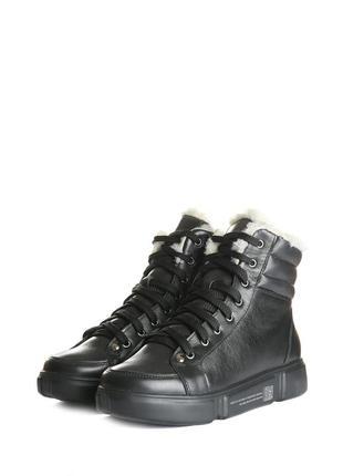 Повседневные удобные теплые зимние женские кожаные ботинки на ...