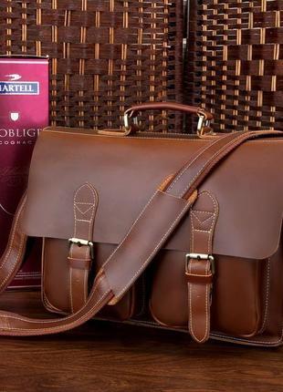 Портфель мужской кожаный качественный стильный респектабельный...