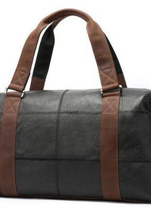 Стильная кэжуал casual кожаная вместительная сумка мужская дор...