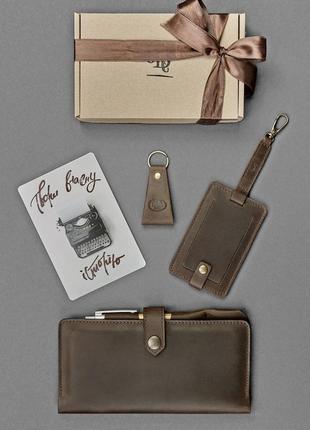 Подарок мужчине оригинальный стильный набор кожаных аксессуаро...