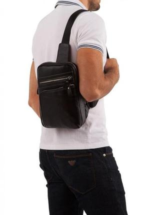 Сумка мужская через на плечо рюкзак на одну шлейку лямку слинг...