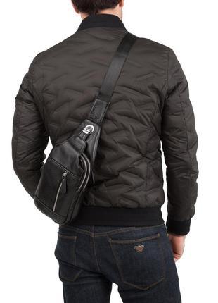 Мессенджер рюкзак слинг на одну шлейку лямку кожаный мужской
