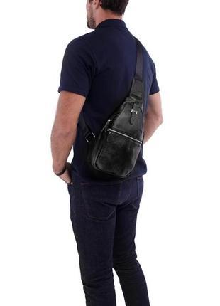 Рюкзак на одну шлейку лямку слинг сумка кроссбоди мужская нату...